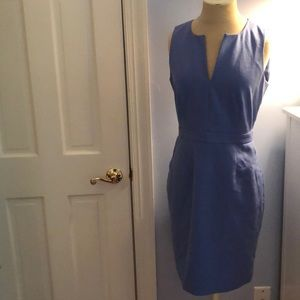 J. Crew Periwinkle Suiting Dress